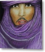 Arab In Traditional Costume Metal Print by David Hawkes