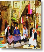 Arab Merchants Of Jerusleum Metal Print