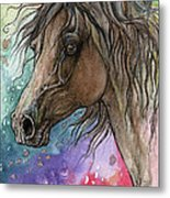 Arabian Horse And Burst Of Colors Metal Print