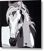Arabian Horse With Hidden Picture Metal Print