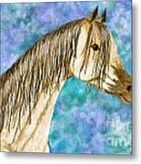 Arabian Sketch  Digital Effect Metal Print