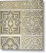 Arabic Tile Designs  Metal Print