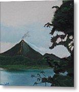 Aranal Volcano Costa Rica Metal Print