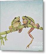 Arboreal Frogs In Pastel Metal Print