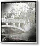 Arboretum Bridge Metal Print by Justine Connolly