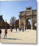 Arc De Triomphe Du Carrousel In Paris France  Metal Print