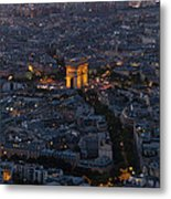 Arc De Triomphe From Above Metal Print
