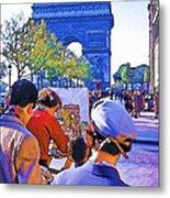 Arc De Triomphe Painter Metal Print