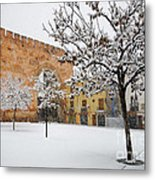 Arc Of Elvira While A Snowstorm Metal Print