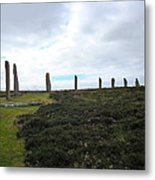 Arc Of Stones At The Ring Of Brodgar Metal Print