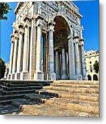 arc of triumph in Piazza Della Vittoria - Genova Metal Print