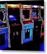 Arcade Forever Nintendo Metal Print by Benjamin Yeager