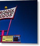 Arcadia Lodge Metal Print