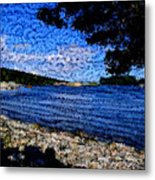 Arcadia Maine Abstract Metal Print