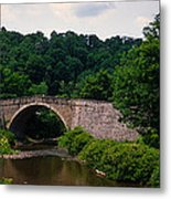 Arch Bridge Across Casselman River Metal Print