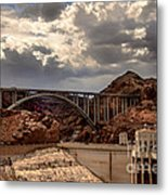 Arch Bridge And Hoover Dam Metal Print by Robert Bales