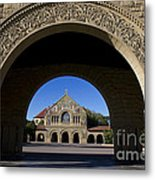 Arch To Memorial Church Stanford California Metal Print