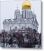 Archangel Cathedral Of Moscow Kremlin - Featured 3 Metal Print