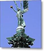 Archangel Gabriel Statue In Budapest Metal Print