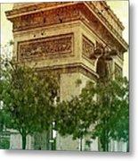 Arche De Triomphe Mood Metal Print