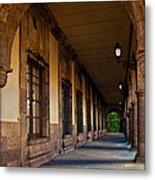 Arched Corridor Metal Print