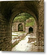 Arched Entrance To Fiesole Theatre Metal Print