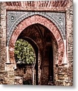 Arched  Gate Metal Print