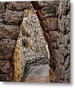 Arched Medieval Gate Metal Print