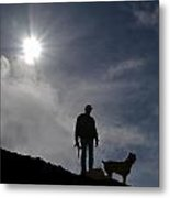 Archer And Dog Metal Print