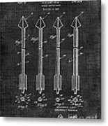 Archery Hunting Arrows Patent Metal Print