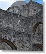 Arches And A Cross Metal Print