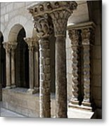 Arches And Columns - Cloister Nyc Metal Print