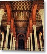 Arches And Columns Of Plaza De Espana 1. Seville Metal Print