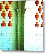 Arches And Crosses New Orleans Louisiana Usa Metal Print