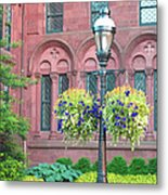 Arches And Potted Plants Metal Print