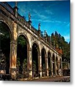 Arches And Statues Metal Print
