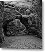 Arches National Park Black And White Metal Print