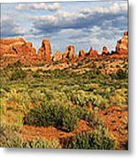 Arches National Park Panorama Metal Print