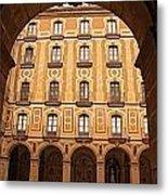 Arches Of Montserrat Monastery Catalonia Spain  Metal Print