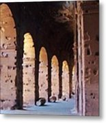 Arches Of The Roman Coliseum Metal Print