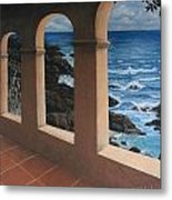 Arches Over The Ocean Metal Print
