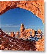 Arches Sandstone Frame Metal Print