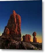 Arches After Sunset Metal Print