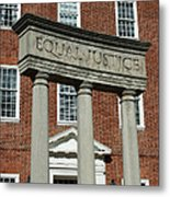Architectural Columns With Equal Justice Metal Print
