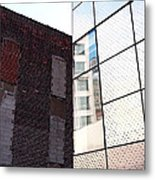 Architectural Juxtaposition On The High Line Metal Print