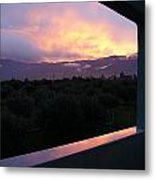 Architectural Sunset Metal Print