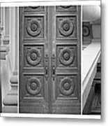 Architectural Triptych Metal Print