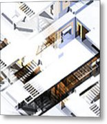 Architecture Abstract Metal Print