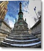 Architecture And Places In The Q.c. Series  Soldiers And Sailors Monument In Lafayette Square Metal Print