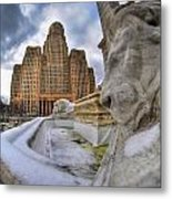 Architecture And Places In The Q.c. Series When The Lions Rest Metal Print